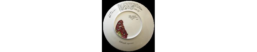 Assiette Papillon - Verso